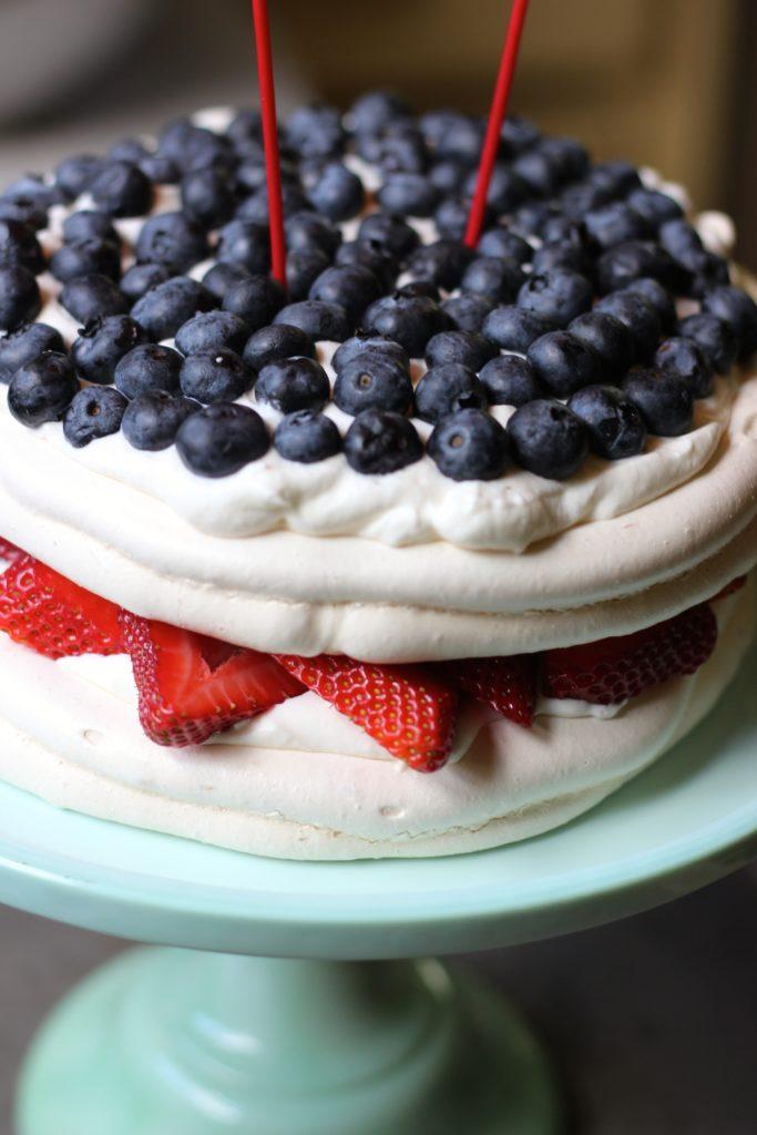 Pavlova Cake - final two