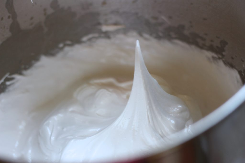Pavlova Cake - whipped egg whites
