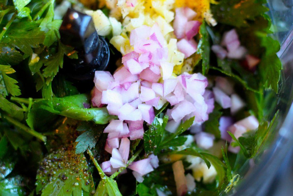 Chimichurri Sauce - onion